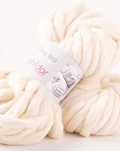 Phildar, Wolle, Wolle, Elfenbein, 55 x 20 x 15 cm