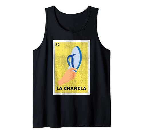Mexicano La Chancla Lotería Regalo Tradicional El Flip Flop Camiseta sin Mangas
