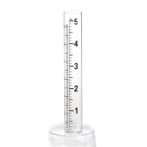 Evergreen Garden Glass Replacement Rain Gauge Tubes Maximum 7 Inches Measurement 2.25 x 8 x 2.75 Inches