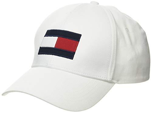 Tommy Hilfiger Big Flag Cap Gorra de béisbol, Blanco (White Ybr), Talla...