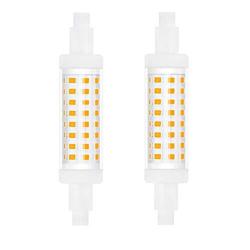DoRight Bombilla R7s 78MM LED 5W Blanco Cálido 3000K J Tipo J78 Proyector, Equivalente a 50W Halógeno 500LM 220-240V No Regulable, Pack de 2