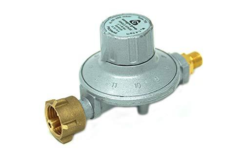 Cavagna Niederdruckregler 50-200mbar 11-stufig verstellbar Gasdruckregler für Gas-Grill, Gasstrahler, Gaskocher, Hockerkocher, Terrassenstrahler