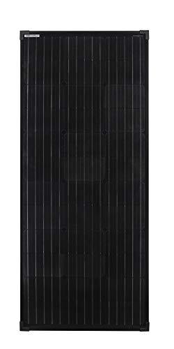 enjoy solar® Mono 100W 12V panel solar monocristalino ideal para caravanas cobertizos de jardín barcos, color negro(black Edition)