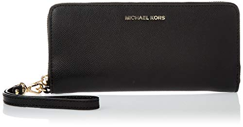 Michael Kors - Money Pieces, Monederos Mujer, Negro (Black), 1.9x10.2x21 cm (W x H L)
