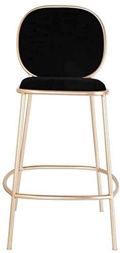 DINGZXC Mesa Y Silla de Comedor Taburete de Bar,Casa Moderno Espalda Baja Taburete de Bar,Taburete de Ocio Cafetería Dormitorio/Negro / 105×53×44cm