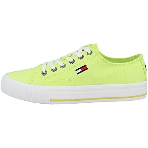 Tommy Hilfiger Tommy Jeans Low Cut Vulc - Zapatillas deportivas para mujer, color Amarillo, talla 40 EU