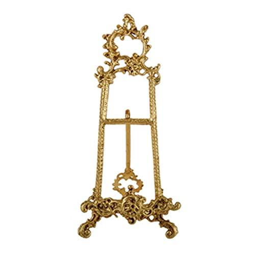 cajas para joyas Soporte De Exhibición De Latón Decorado A Mano Soporte De Placa De Estante De Placa Colgante Soporte De Oro (Color : Metallic, Size : 11.42 * 5.31inch)