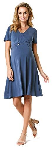 Noppies Moda ciążowa damska sukienka do karmienia Nicolette, niebieski (Dark Denim P083), M