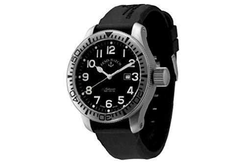 Zeno Watch Basel Herren Uhr Analog Automatik mit Silikon Armband 1556-a1