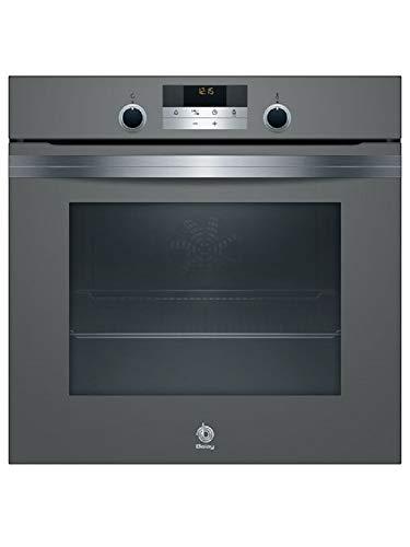 Balay, 3HB5358A0, Serie Cristal Horno, A, 60 cm, 0,97 kWh/ciclo convencional, Cristal Antracita, Cooking 3D, Control Comfort, Raíles Comfort Plus 100% extraíbles en una altura