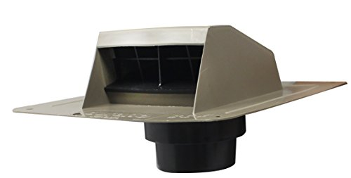Duraflo 6013WW Roof Dryer Vent Flap with ATT Collar, Weatherwood