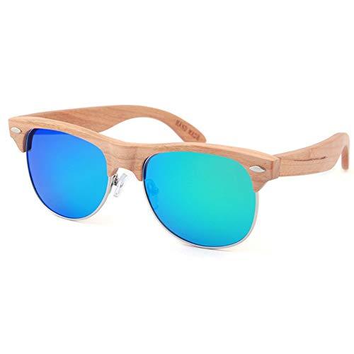 FAGavin UV400 Gafas De Sol Azules Película De Color Polarizador for Hombre Europa Y América Gafas for Mujer