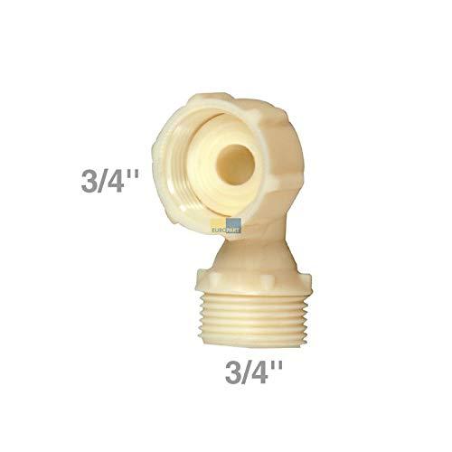 LUTH Premium Profi Parts Adaptador de Codo Universal de 3/4 de Pulgada para lavavajillas de la Lavadora con Manguera de Entrada