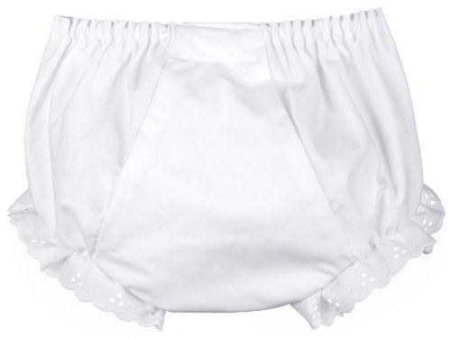 I.C. Collections Little Girls White Double Seat Panty, Size 03