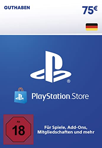 PSN Guthaben-Aufstockung   75 EUR   deutsches Konto   PS5/PS4 Download Code