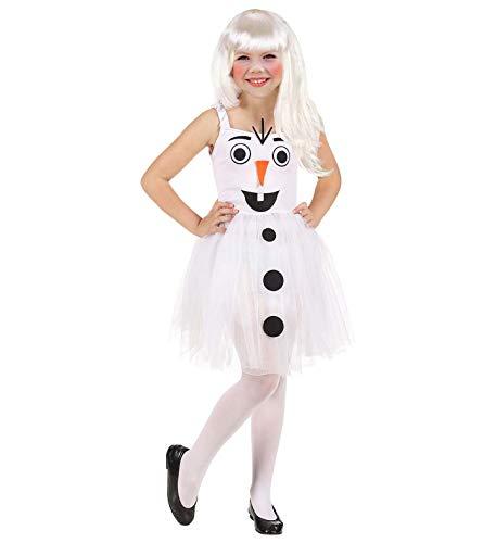 WIDMANN Srl disfraz de Mueco de nieve elstico de nia, Color blanco, wdm96533