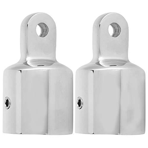 Alomejor Bimini Tapa Ojo para Embarcaciones Yachtconjector De Tapa De Conexión Herrajes De Cubierta 7/8'1'(22mm*2pcs) (2PCS)