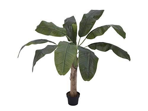 artplants Set 'Platanera Artificial + Spray de protección UV Gratuito' - Banano sintético Makani, 100cm