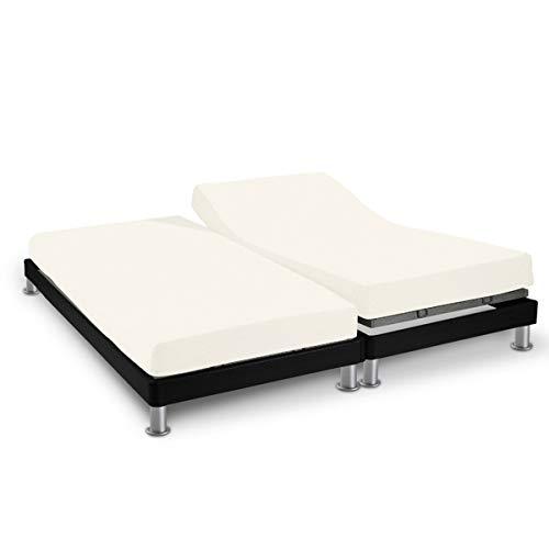 Soleil d'Ocre 616828 Sábana algodón ajustable para cama, uni Ecru,2x70 x 190 cm