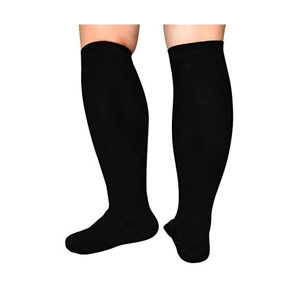 Extra Wide Calf Compression Socks Women Men 20-32mmHg Knee High Plus Size