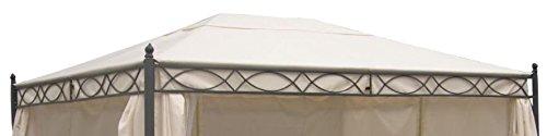 DEGAMO Ersatzdach für Pavillon Rivoli 3x4 Meter, naturfaben, wasserdicht