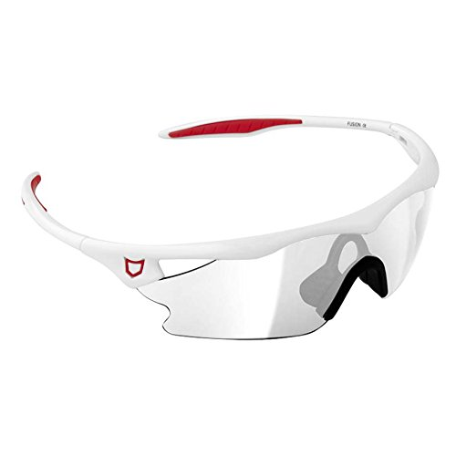 Catlike Fusion Gafas de Ciclismo, Unisex, Blanca, Talla Única