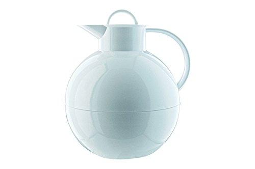 alfi Kugel, Thermoskanne Kunststoff weiß 0,94l mit alfiDur Vakuum-Hartglaseinsatz, Isolierkanne hält 12 Stunden heiß, ideal als Kaffeekanne oder als Teekanne - 0105.010.094