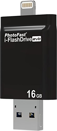PhotoFast IFDEVO16GB i-FlashDrive EVO Speicher-Stick mit 16GB Kapazität, Lightning Anschluss (MFI-Zertifiziert) und USB 3.0 Anschluss für Apple iPhone 5/5S/6/6S/6 Plus/6S Plus, iPad mini 1/2 (Retina) /3, iPad Air 2/3, iPad Pro