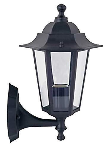 Außen-Garten-Wand-Leuchte-Lampe KINGSTON schwarz Aluminium Druckguss Balkon-Terrasse-Treppen-Leuchte-Lampe