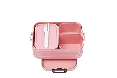Mepal Bento-Lunchbox Take A Break Nordic pink midi – Brotdose mit Fächern, geeignet für bis zu 4 Butterbrote, TPE/pp/abs, 0 mm