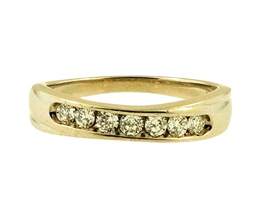 Palladium 950 0.25ct Diamond Crossover Eternity Ring (Maat O) 4mm breed