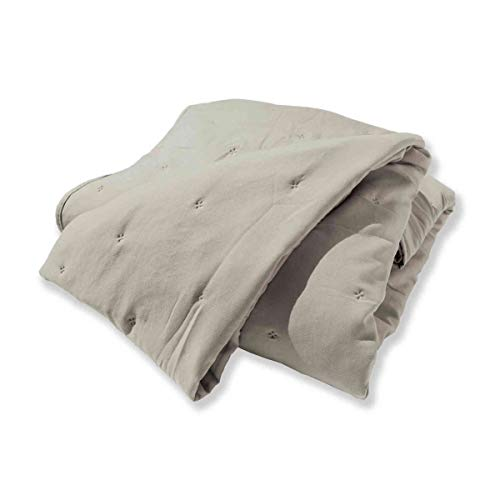 Soleil d'ocre Eve Tagesdecke, Polyester, Beige, 240 x 260 cm