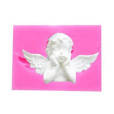 Demarkt Molde de Silicona de Fondant de Cupido Molde de Pastel de Alas de ángel Molde Decorativo de Chocolate Fondant