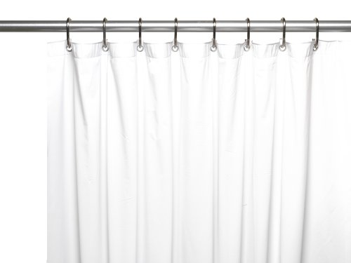 "Carnation Home Fashions 8-Gauge Vinyl Shower Curtain Liner, X-Long 72"" x 84"", White"