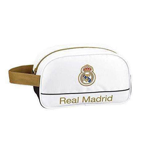 Real Madrid CF Neceser, Bolsa de Aseo Adaptable a Carro,