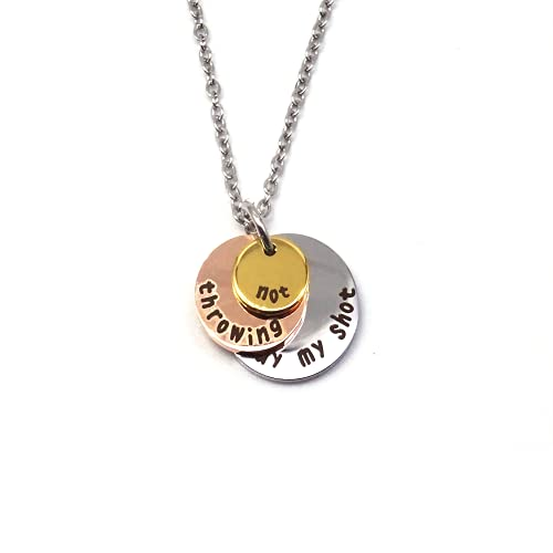 Hamilton Necklace Gifts for Teen Girls Women Not Throwing Away My Shot Tricolor Three Layers Jewelry Musicals of Broadway Merch