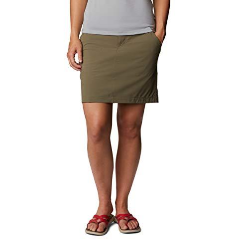 Columbia Saturday Trail Mujer Skort, Saturday Trail Femme, Mujer, Falda pantalón, 1710551, Verde Piedra, 42