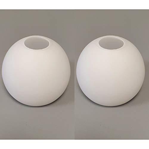 2er Set Loxy Lampenschirm E14 2er Set,Glas, Ersatzglas, Schirm, Ersatzschirm, Lampenglas für Pendellampe, Tischlampe, Fluter, Leuchte (2er Loxy)