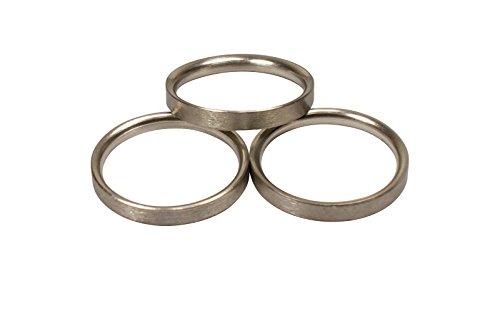 Edelstahl Gardinenringe halbrund mit Faltenlegehaken für 16 mm Durchmesser Gardinenstangen, 10 Stück