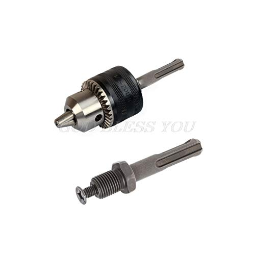 WEI-LUONG Chuck Collet 12mm Thread Dia Dia SDS Plus Brillo Redondo TALRER CHINK Conector Adaptador Gris Gota Envío