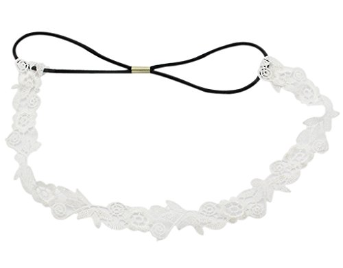 BONAMART Damen Elegant Hochzeit Braut Spitze Blumen Stoff Stirnband Haarband - Angebote