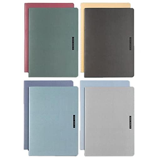 8 Pack B5 Cuaderno, A5 Cuaderno Noteprecord Bloc De Notas Grandes, Diario De Cubierta Suave, Diario, Escuela, Negocios, Viajes, Registros De Reuniones 8 Colores Colegios Estudiantes Cuadernos-A5
