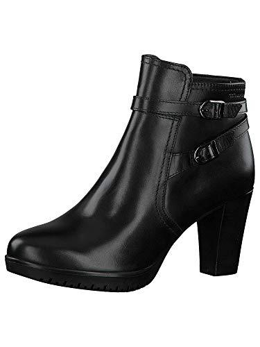 Tamaris Damen Stiefeletten, Frauen Ankle Boots, halbstiefel Bootie knöchelhoch reißverschluss weiblich Ladies Womens Women,Black,38 EU / 5 UK