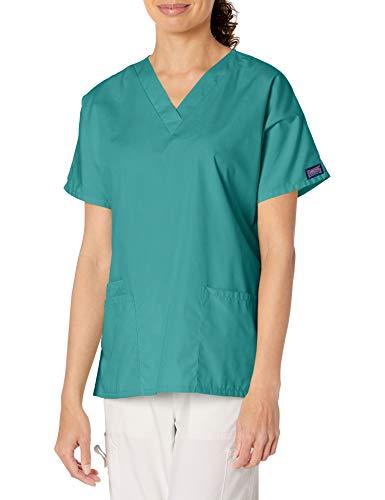 Cherokee Women's V Neck Scrubs Shirt, Surgical Green, Medium