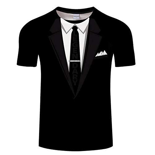 Camisa Hawaiana para Hombre Mujer Casual Manga Corta Camisas Playa Verano Unisex 1147D Estampada Funny Hawaii Shirt Camiseta Divertido Traje Falso Camiseta 3D Esmoquin Pajarita Camisetas Impresas En