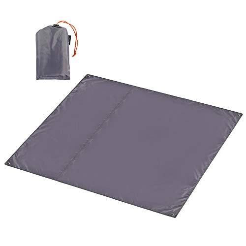 CAMPMOON Waterpfoof Camping Tarps 7x7 Feet, Large Oxford 4 in 1 Tent Footprints Ultralight Compact Ground Cloth for Camping Backpacking, Grey