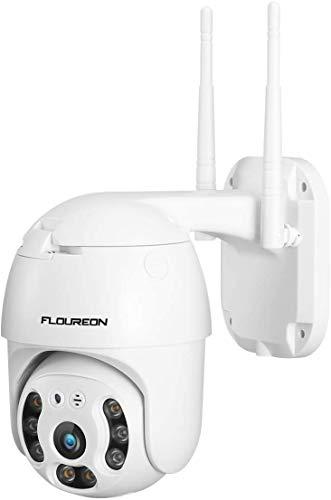 Telecamera WIFI Esterno IP 1080P HD Telecamera di Sorveglianza FLOUREON 360° Rilevazione di Movimento Impermeabile Notturna Audio Bidirezionale iOS/Android