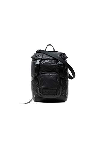 Desigual, Fabric Backpack Mini-Mochila para Mujer, Negro, Medium