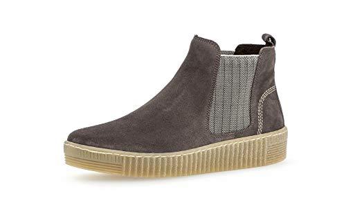 Gabor Damen Stiefeletten, Frauen Chelsea Boots,Best Fitting,Wechselfußbett, Stretch-Einsatz Gummi-Einsatz,Wallaby/beige(natu,38.5 EU / 5.5 UK