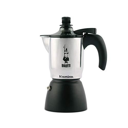 Bialetti Kremina, Caffettiera 3 Tazze, per Un Caffè con Una Soffice Crema Vellutata, Alluminio, Black, 30 X 20 X 15 cm, 1.0 Piece